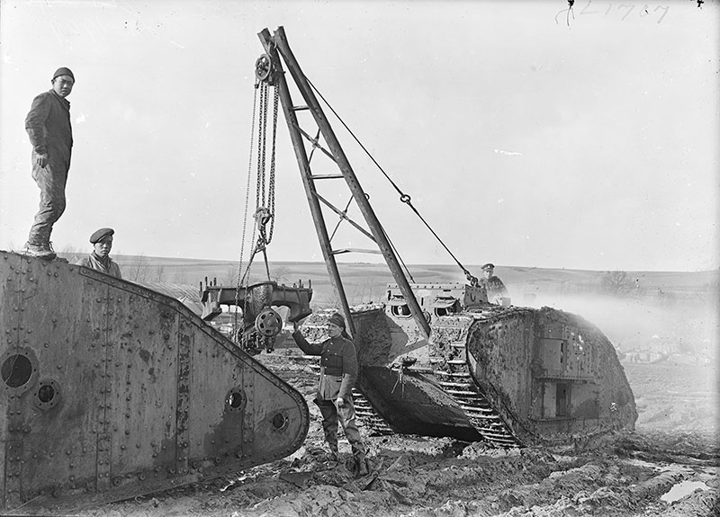 CLC Archive: Cambrai Tank maintainance