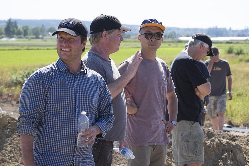 L-R: Director Jordan Paterson, 1st AD Mark Currie, DP Norm Li, SFX Supervisor Dan Keeler
