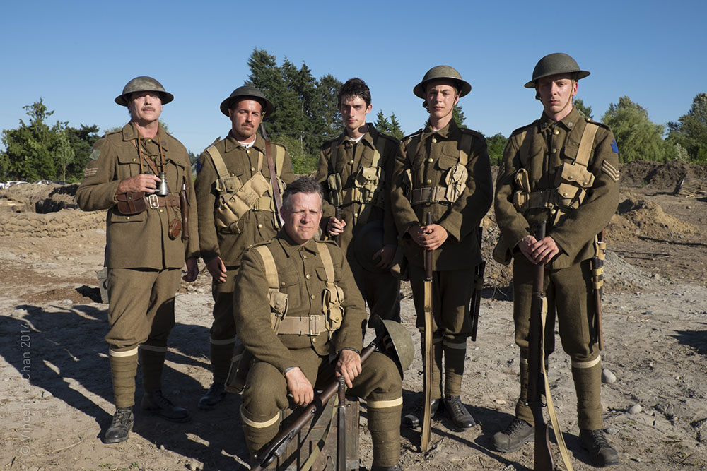 WWI Historical Consultant Tim Heller and WWI reenactors