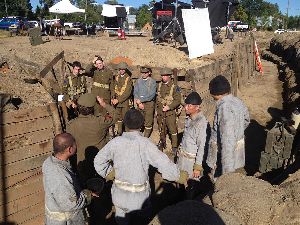 WWI trench reenactment